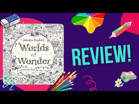 Worlds Of Wonder By Johanna Basford Colouring Book Review - YouTube