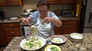 Italian Grandma Makes Fettuccine Alfredo