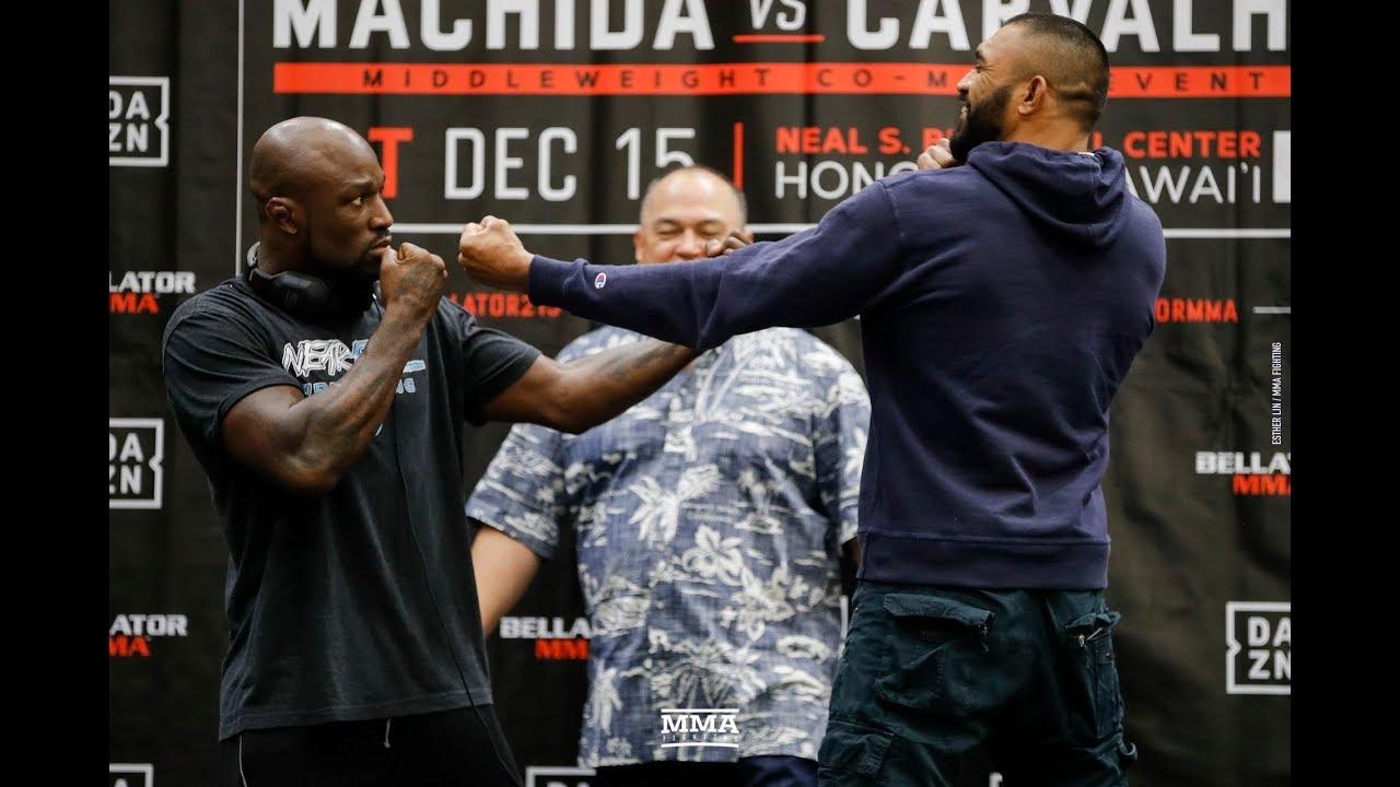Bellator 213: King Mo Lawal vs. Liam McGeary Press Conference Staredown - MMA Fighting