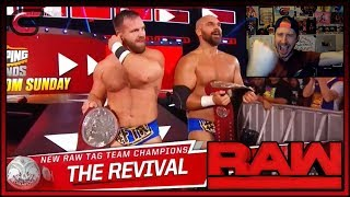 Revival Win Tag Team Championships Reaction |RAW June 10th 2019|