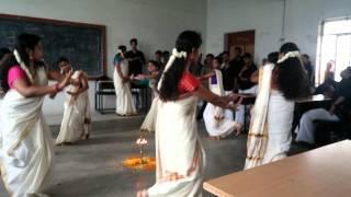 Hindusthan college our MCA department  onam celer