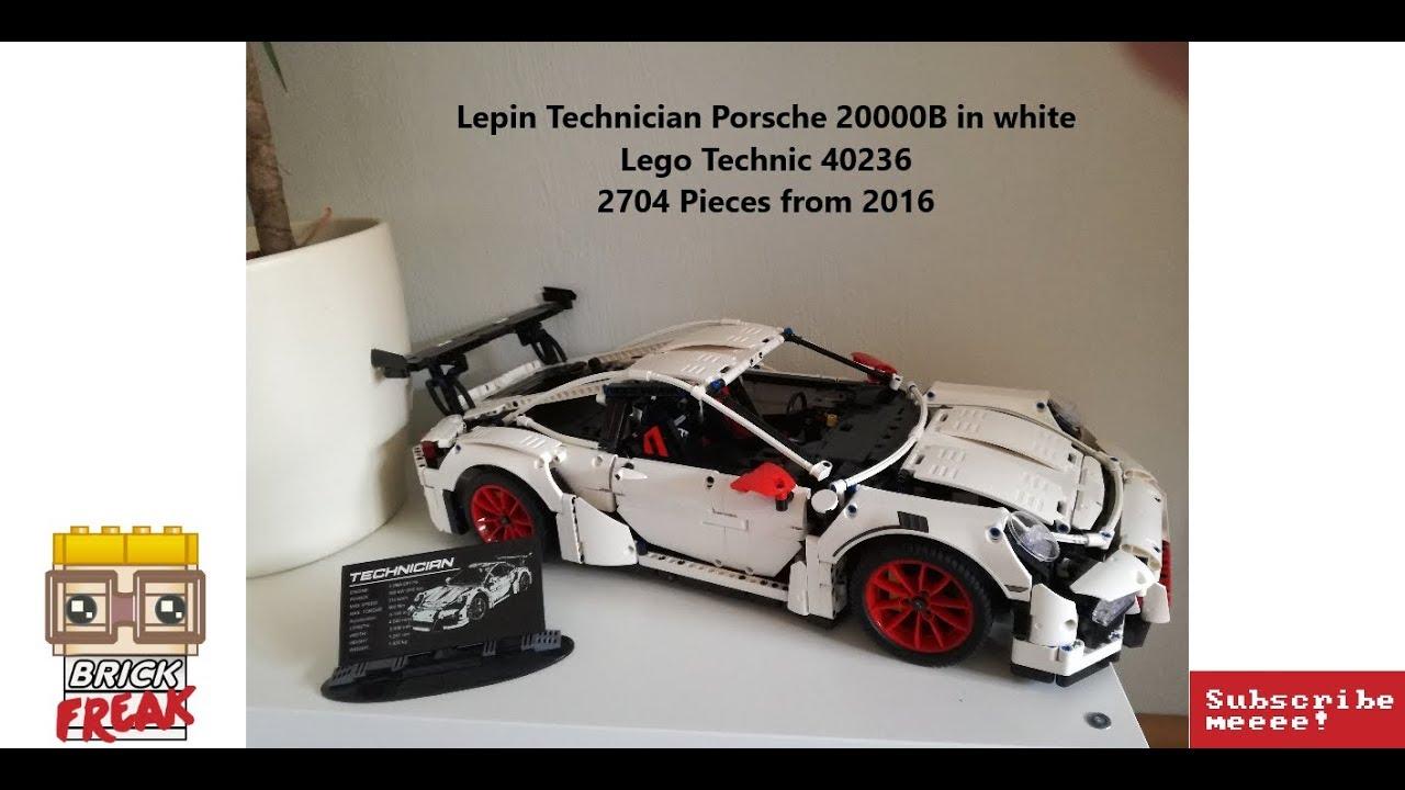 Lepin Porsche 20000b in white - Lego 40236 english version