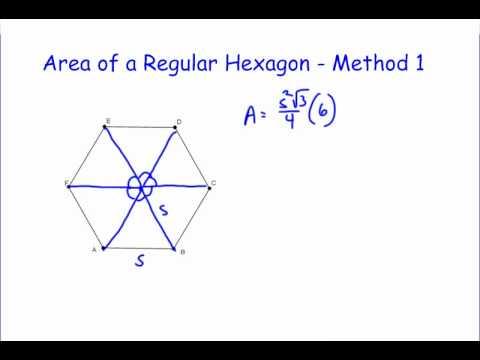 Area Of A Regular Hexagon Youtube