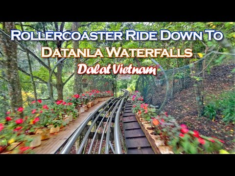 Rollercoaster Ride Down To Datanla Waterfalls   Dalat Vietnam