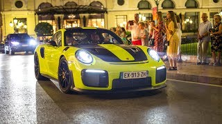 The EPIC Monaco Supercar Nightlife 2018 #10 (599 Mansory Stallone, Murcielago SV, MSO 720S, GT2 RS)