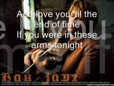 Bon Jovi - In these Arms (with lyrics)