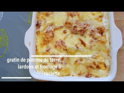 gratin-de-pomme-de-terre,lardons-et-fromage-à-raclette-recette-très-simple