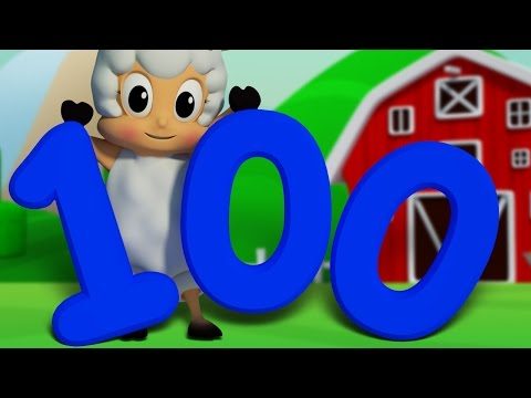 Number Song 1 to 100  Learn To Count  Big Number Song  3D Numbers Rhyme Song  Farmees