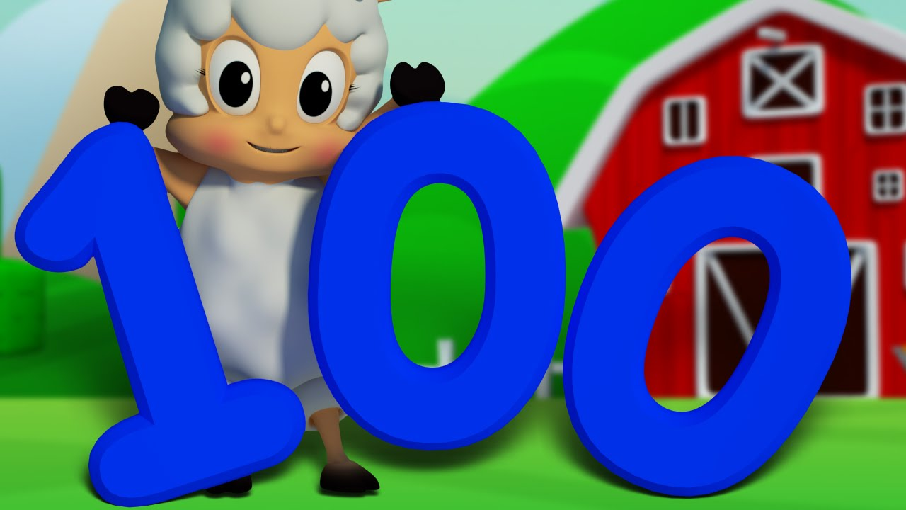 Number song 1 to 100 learn to count big number song for Large 3d numbers