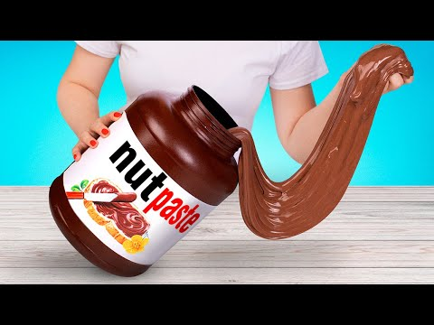 How To Make Amazing Nutella Slime In A Jar