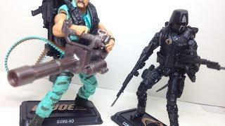 Gung Ho & Cobra Shadow Guard G I Joe 50th Marine Devastation Toy Review