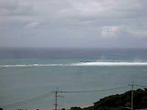 台風2号の影響がモロ。沖縄の海の状況。