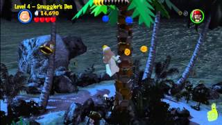 Lego Pirates of the Caribbean: Level 4 Smugglers Den - Story Walkthrough - HTG