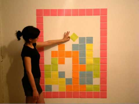 Tetris Stop Motion Post it