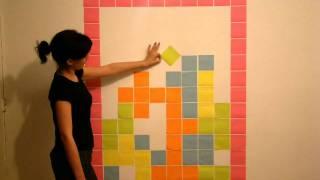 Tetris Stop Motion Post it