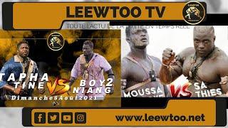 : Tapha Tine-Boy Niang 2 à la TFM et Sa Thiès-Moussa Ndoye à la 2STV, une belle nuit de la lutte