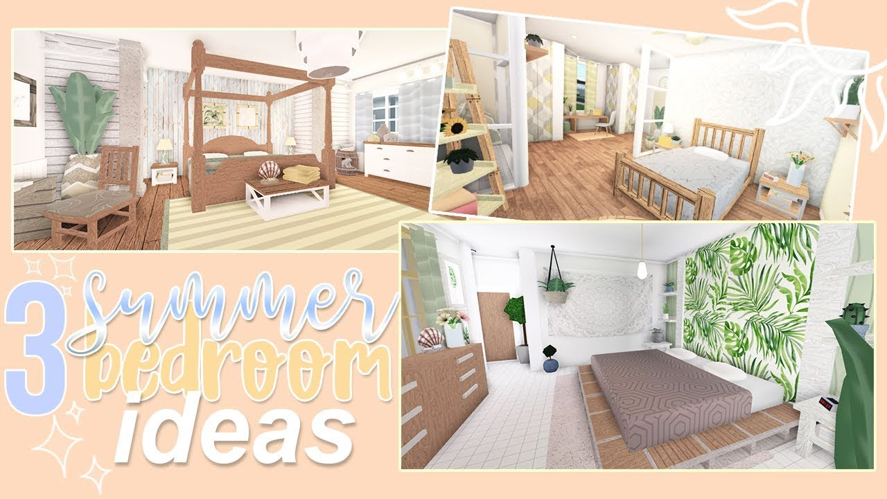 3 Summer Bedroom Ideas Roblox Bloxburg Youtube