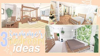 3 SUMMER BEDROOM IDEAS | Roblox Bloxburg