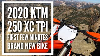 First Moments on 2020 KTM 250 XC TPI - Bike Runs PERFECT! Day 1 Idaho Trip