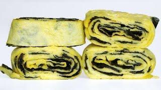 Fried Eggs 김달걀말이 만들기 Tamagoyaki Recipe