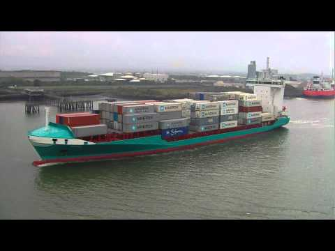 Mare container ship - Dublin Port, Ireland