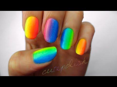 রংধুনু নেইল আর্ট (Rainbow nails art)