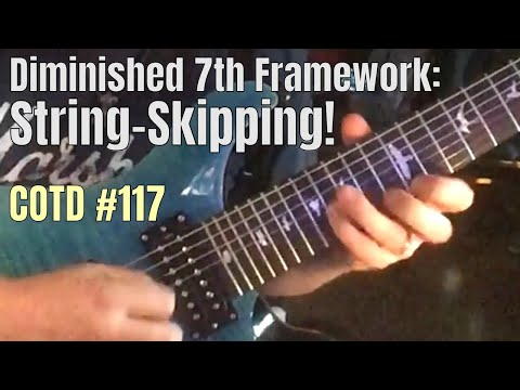 Diminished 7th Framework String-Skipping | ShredMentor Challenge of the Day #117