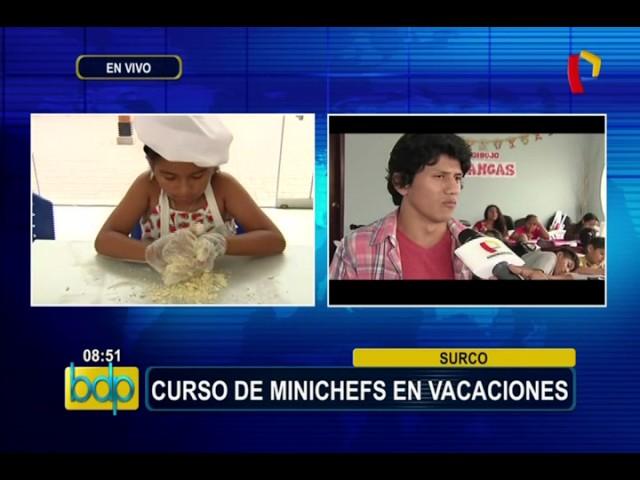 Surco: curso de mini chefs para niños en estas vacaciones