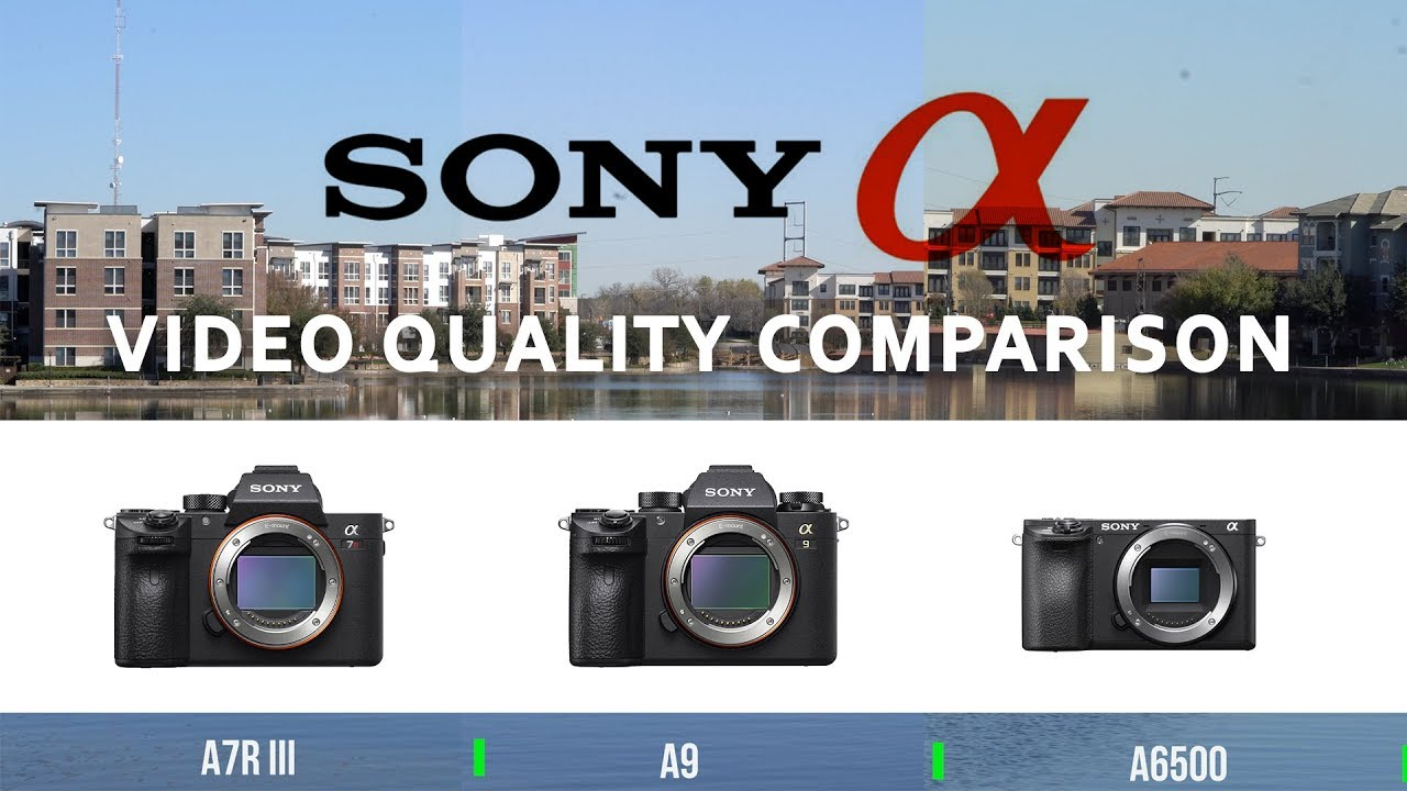 Sony A7r iii vs a6500 vs A9 4k video quality comparison