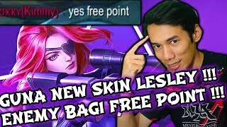 GUNA NEW SKIN LESLEY LETHAL LADY !! ENEMY BAGI FREE POINT !! Soloz Gameplay Mobile Legends