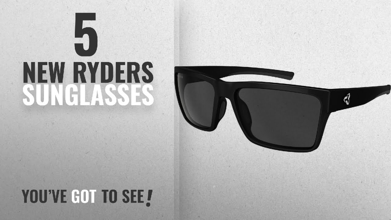 758c01903fb Top 10 Ryders Sunglasses   Winter 2018    Ryders Eyewear Nelson Velo-Polar  Sunglasses (BLACK MATTE
