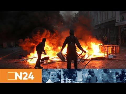 """N24 Nachrichten - Hamburg: Wasserwerfer gegen die """"Revolutionäre Demo - G20 entern"""""""""""
