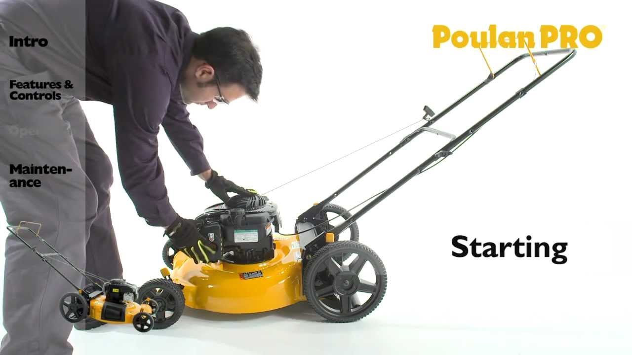 Poulan Pro Mower Operation