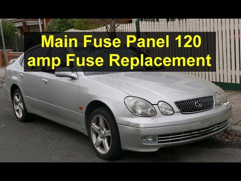 Main power alternator fuse breaker replacement in Lexus, Toyota, etc