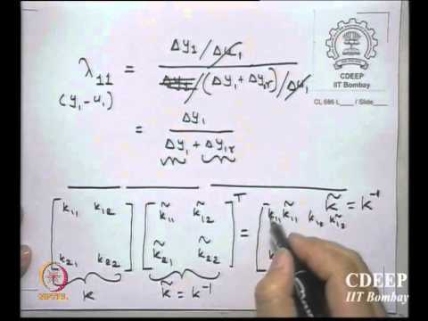 Mod-04 Lec-15 Interaction Analysis and Multi-loop Control (contd.)