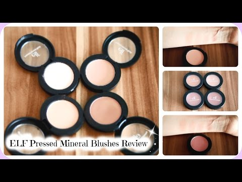 ELF Pressed Mineral Blushes - ALL Shades -  Review & Swatches