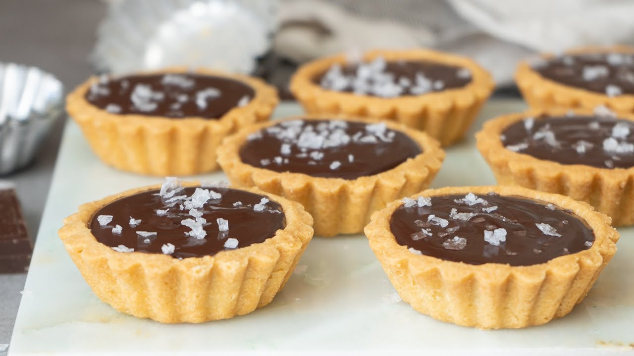 Chocolate Tarts Recipe - YouTube