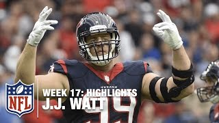 J.J. Watt Finger Wags, Dabs & Dominates the Jaguars | NFL Week 17 Highlights