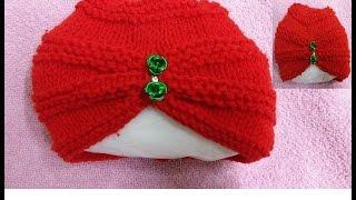 Knit Pagadi CAP for Kids हिंदी / बुनाई डिजाइन - 29 * Pagadi for Kids *