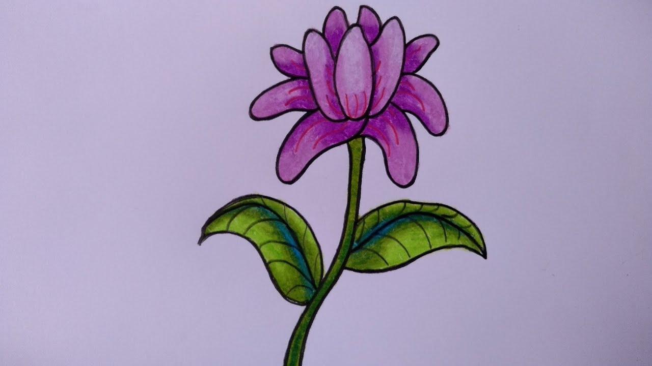 Cara Menggambar Bunga Yang Mudah Menggambar Bunga Dahlia Youtube
