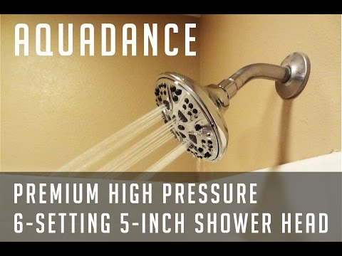 AquaDance Premium High Pressure 6-setting 5-Inch Shower Head (Review and Installation)
