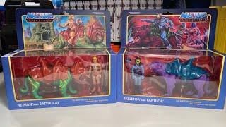 Super7 ReAction Figure He-Man & Battle Cat Skeletor & Panthor