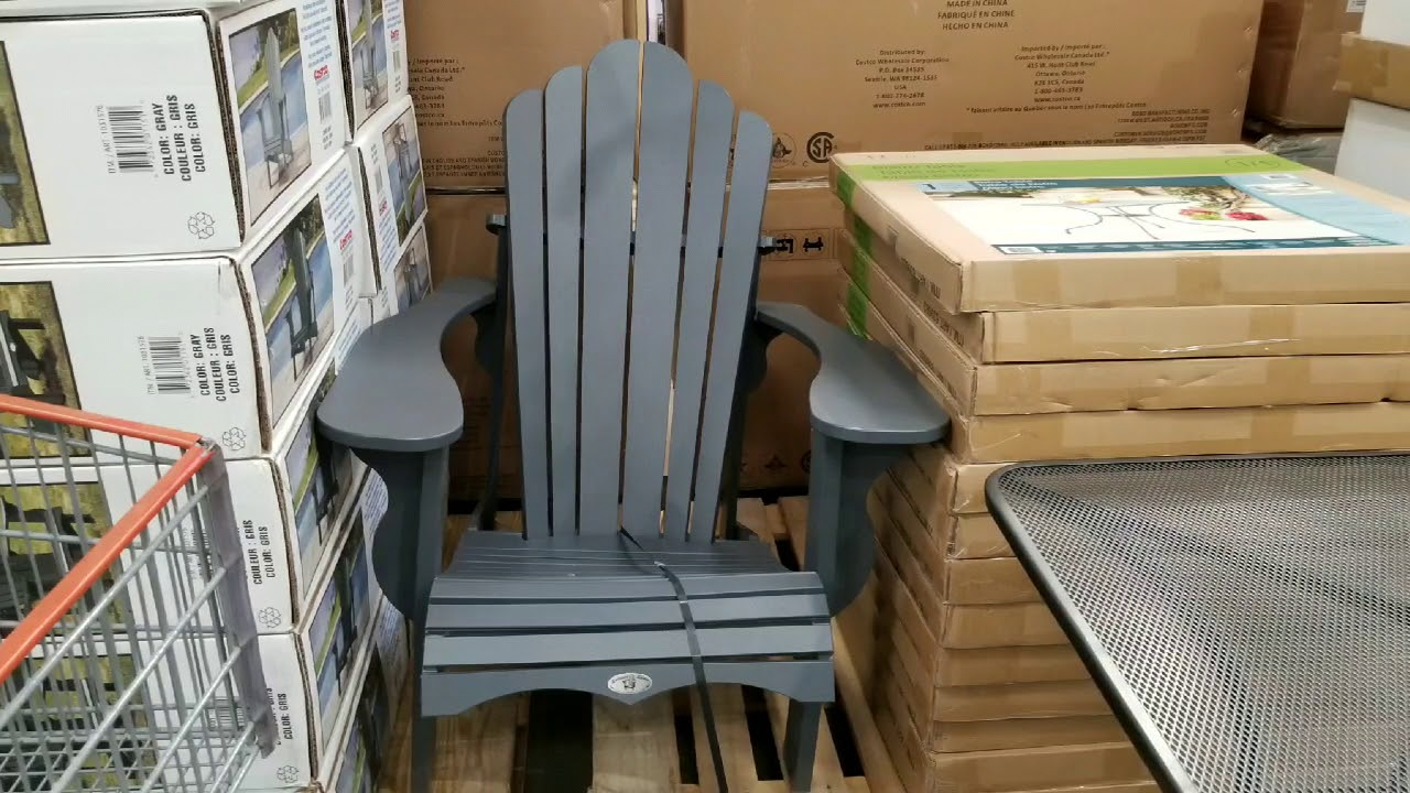 gray adirondack chairs chair exercise gif costco 129 youtube