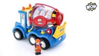 Играем в строительную технику! Бетономешалка Майк - WOW TOYS Детские игрушки Kids toys