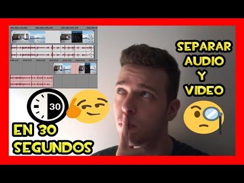 Como Separar Audio De Video En Sony Vegas Pro 13 11 15 12 10 9 16 En 30 Segundos 2018 Youtube