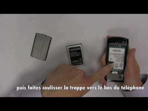 Samsung Wave - Installer la carte SIM