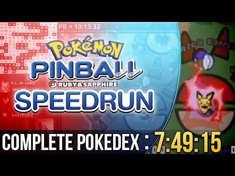 Pokemon Pinball Catch Em All Speedrun in 7:49:15 Ru & Sapphire