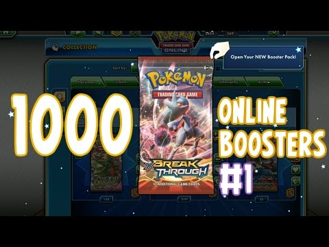 1000 Pack Opening on the PTCGO! 200+ BREAKthrough Boosters! #1 | Pokémon TCG Online