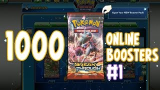 1000 Pack Opening on the PTCGO! 200+ BREAKthrough Boosters! #1   Pokémon TCG Online