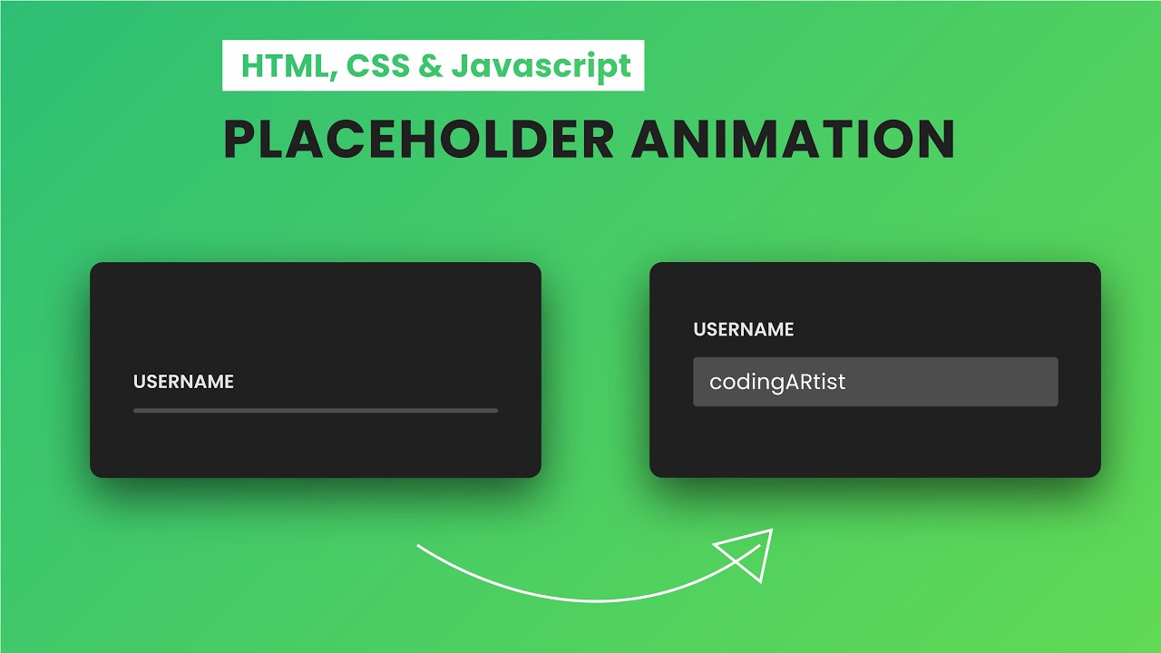 Awesome Input Placeholder Animation   HTML, CSS & JavaScript